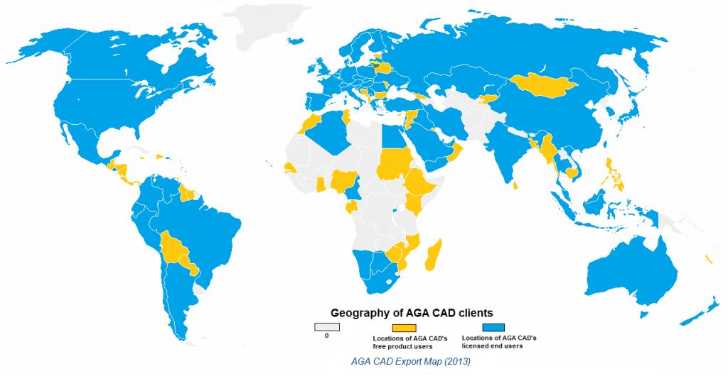 2014 03 18 AGA CAD user countries-2013