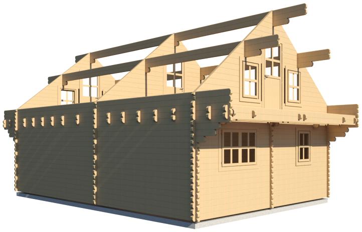 log house BIM model