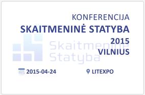 Konferencija Skaitmenine statyba 2015