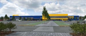 IKEA Rygoje projekto vizualizacija